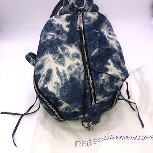 Rebecca minkoff acid wash jean mini backpa…